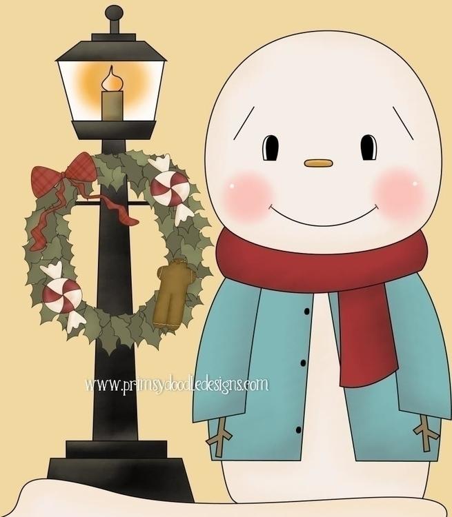 Snowman Blue - illustration - lisacraig | ello