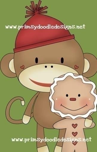 Winter Monkey - illustration - lisacraig | ello