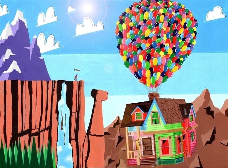disney, pixar, house, balloon - mohanballard | ello