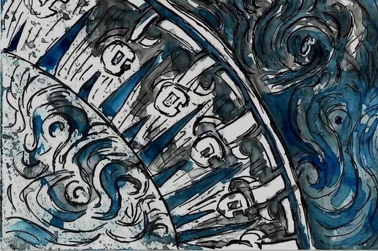 July Artsnacks - knotwork, pen, watercolor - crysodenkirk | ello