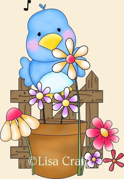 Garden Bird - illustration - lisacraig   ello