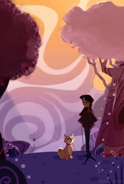 Violet - 7 Days Color - violet, illustration - phamboola | ello