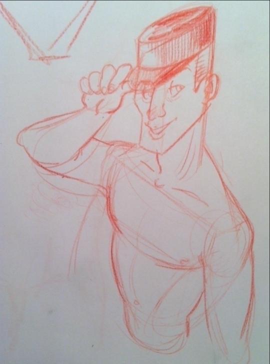 Streap-tease gendarme - characterdesign - clarisse-1174 | ello