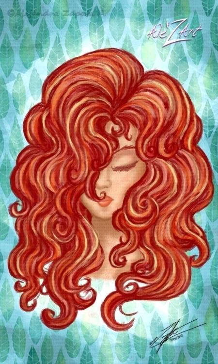 Red Head - redhaired, woman, digitalart - alezart | ello
