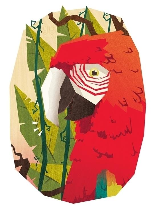 Pale Geranium Lake - illustration - gemmagould | ello