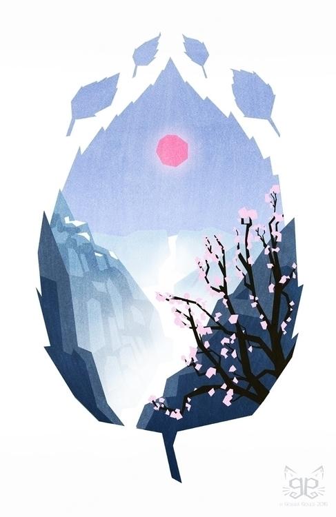 Serenity - illustration, colourcollective - gemmagould | ello