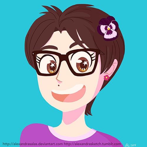 Profile pic September - selfie, selfportrait - alexandrasketch   ello