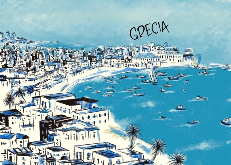 Grecia - greece, grecia, city, illustration - nfiasche | ello