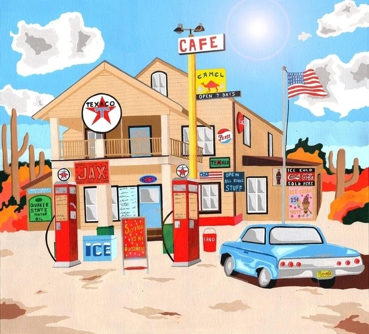 Classic American Texaco Station - mohanballard | ello