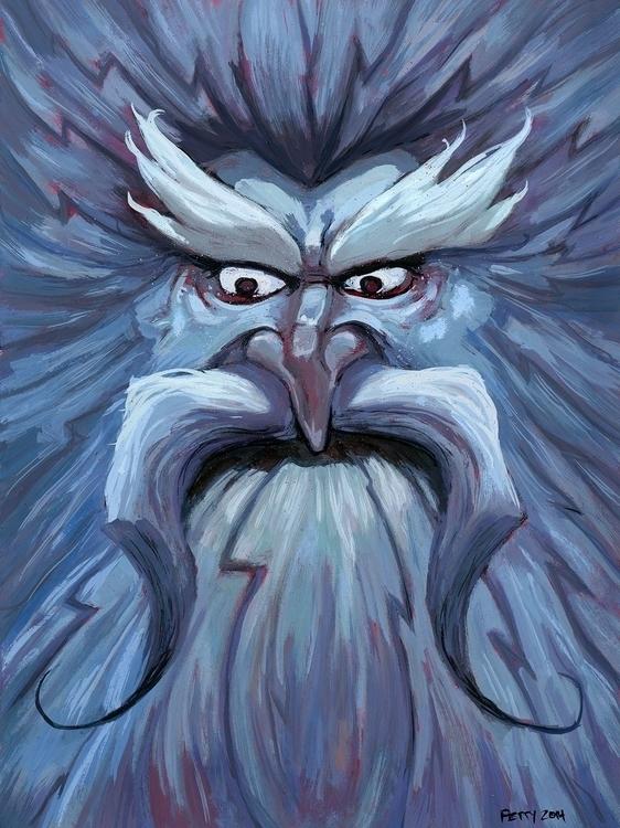 Winter Bolt. Gouache print maki - lpetty   ello