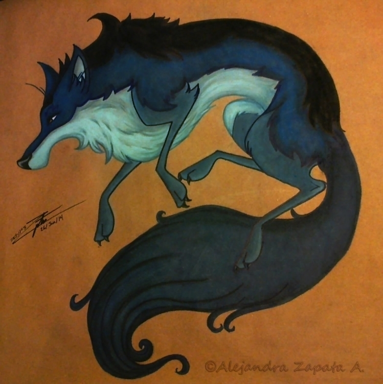Tundra Wolf - wolf, traditionalart - alezart | ello