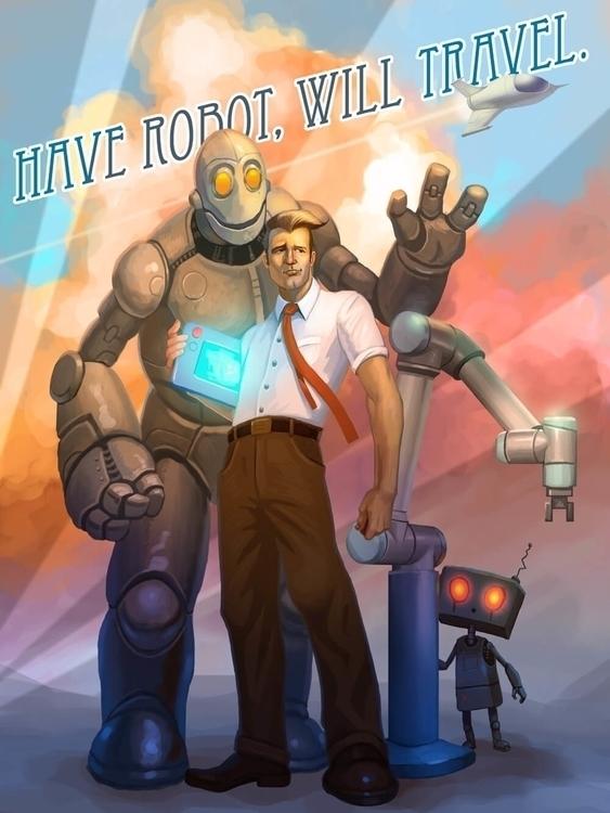 poster robotic company - illustration - jhoneil-8423 | ello