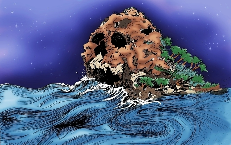 Island - Inspired Skull Rock Pe - jessieg-1223 | ello