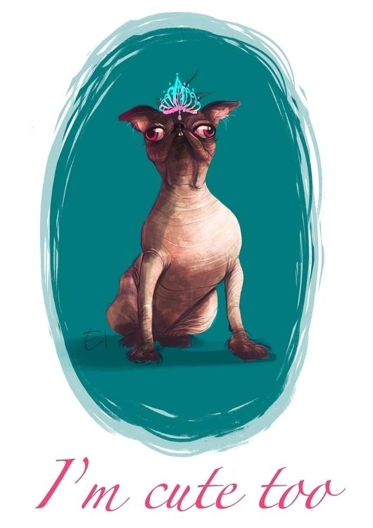 illustration, dog, digitalart - el0394 | ello