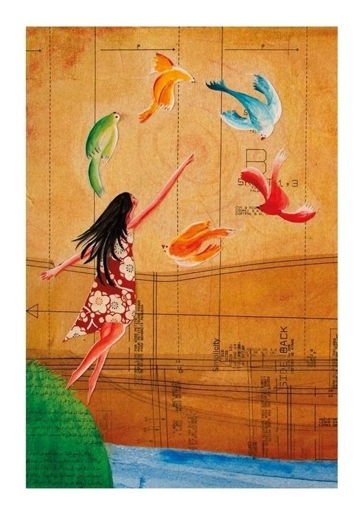 Calling dream. Collage artwork - palahoyos | ello