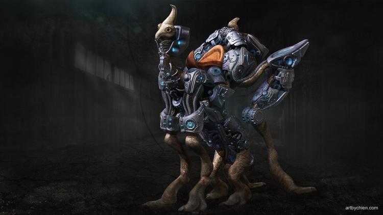 Cyborg - conceptart, mechanical - artbychien | ello