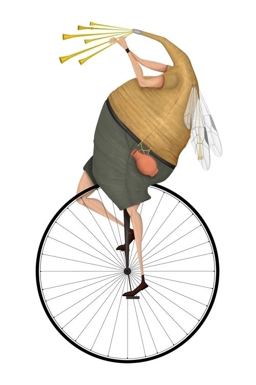 zampogna, wheel, bike, digitalpainting - stetocefalo | ello
