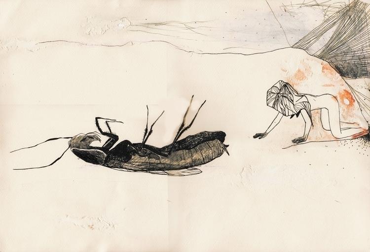 uno scarafagggio che si è roves - unselvaggioemezzo | ello