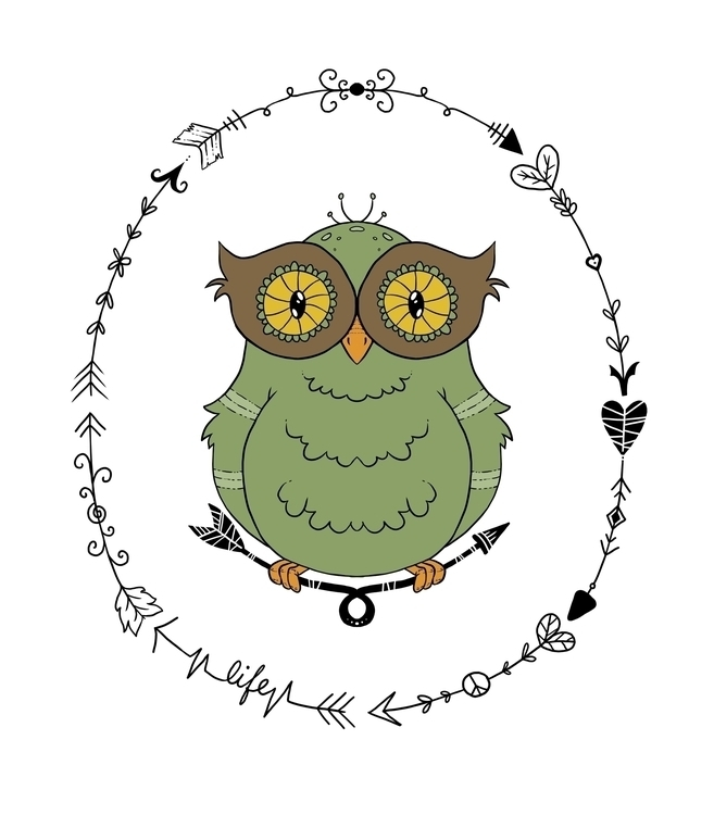 Owly design cute, decorative ar - zita-3948 | ello