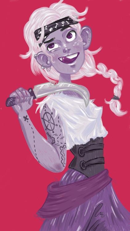 Scallywag - pirate, girl, scallywag - thisjustine | ello