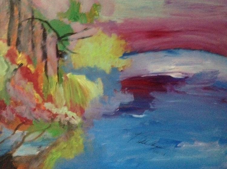 Lake Beauty - illustration, painting - loveart_wonders | ello