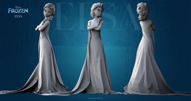 Elsa - characterdesign, conceptart - yuryhudov | ello