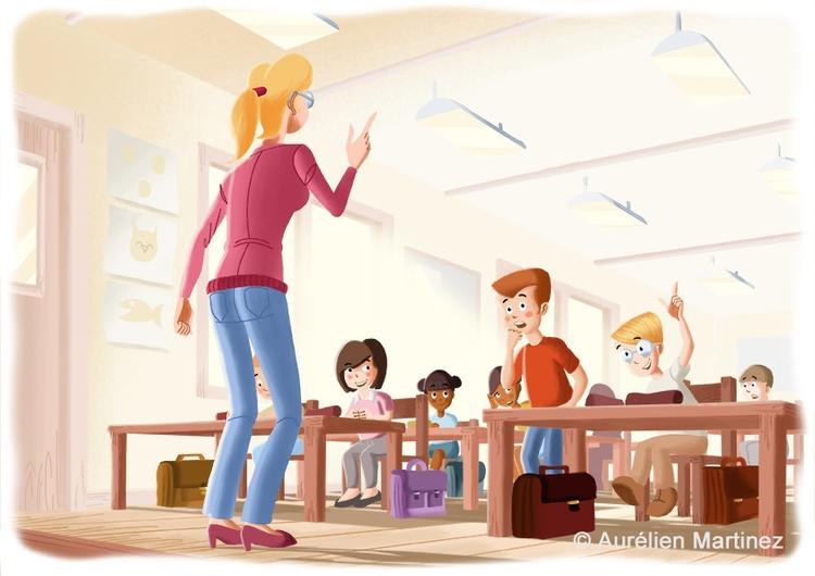 Classroom illustration, 2014 - aurelienmartinez | ello