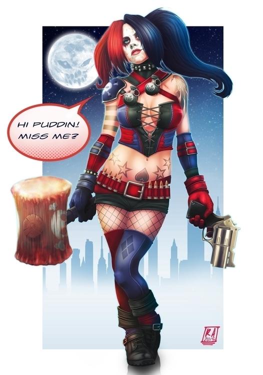 Harley Quinn <3 - illustration - remzorr | ello