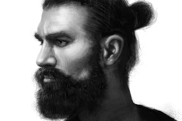 Man Study Digital Texture Paint - siberian_sweaters | ello