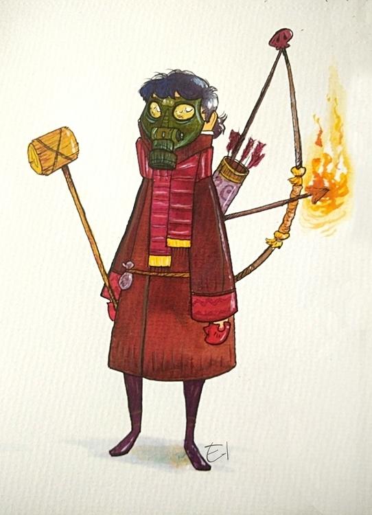 characterdesign, watercolor - el0394 | ello