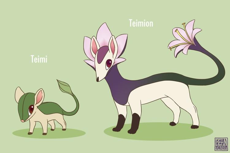 Grass type fakemon 2014 - pokemon - beansterpie | ello