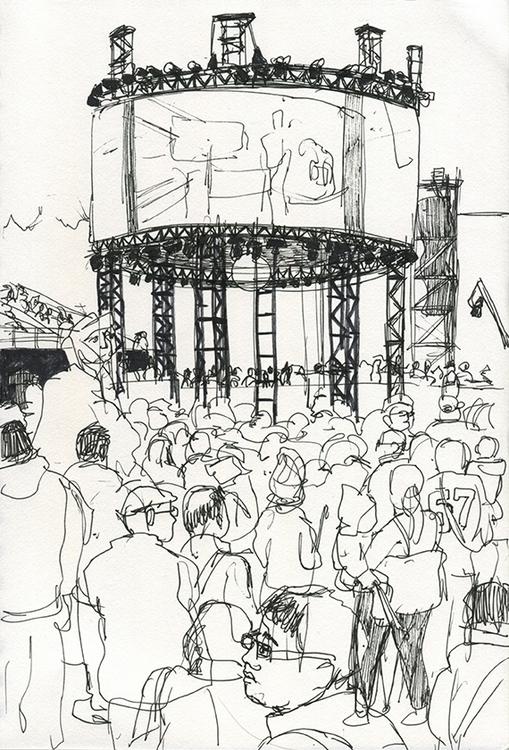 reportage, drawing, penink, sketchbook - ononlao | ello