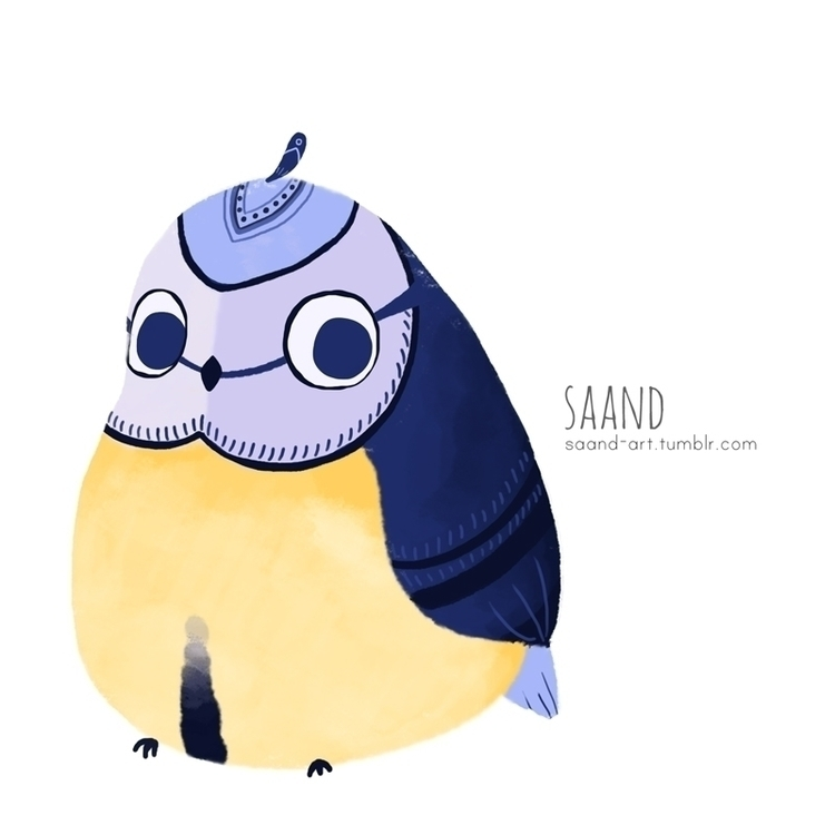 Mésange bleue ~ - illustration, bluetit - saand | ello