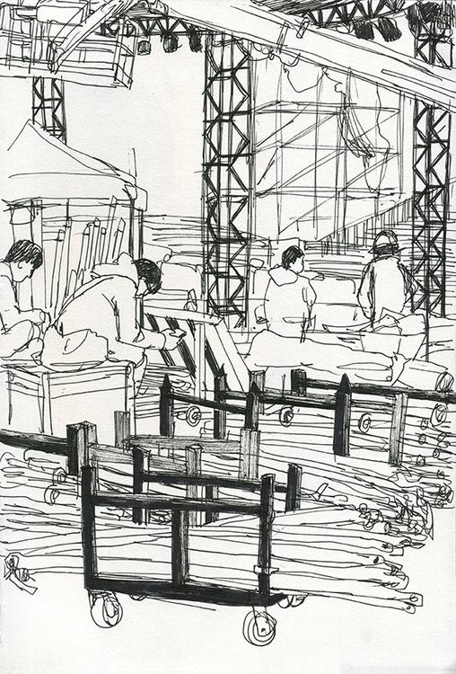 reportage, drawing, penink, construction - ononlao | ello