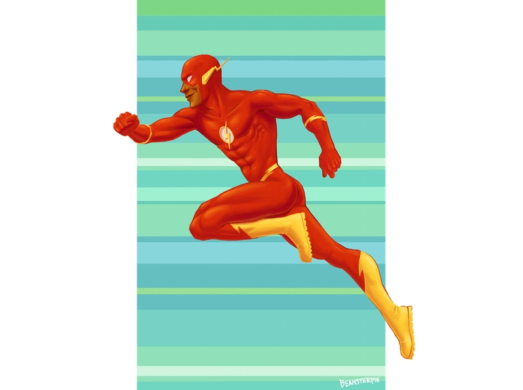 Wally West Flash 2015 - theflash - beansterpie | ello