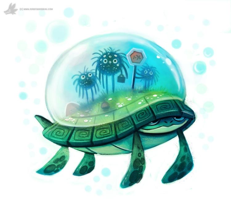 Day 825. Turtle Cabbie - piperthibodeau | ello
