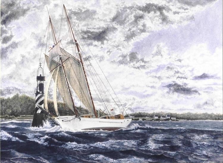 La Belle Poule - painting, watercolor - egral | ello