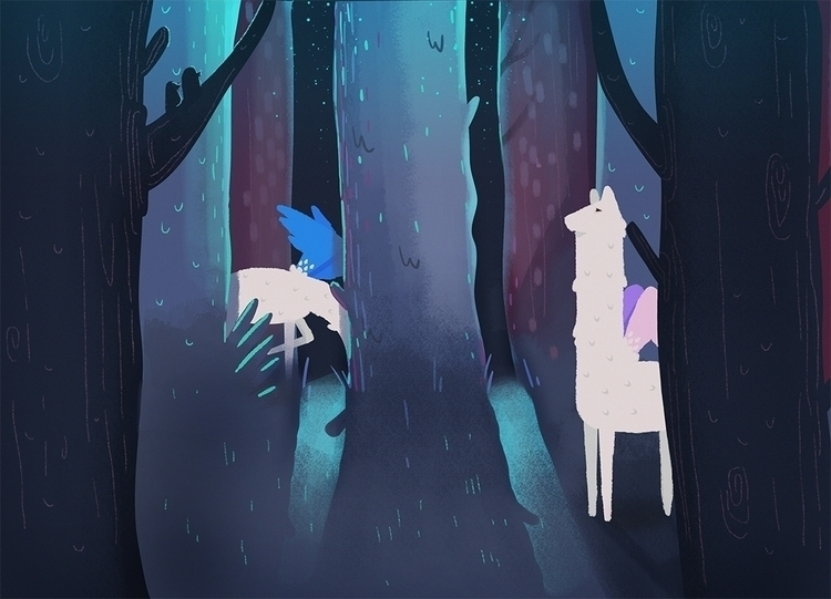 illustration, animals, forest - mellarosa | ello