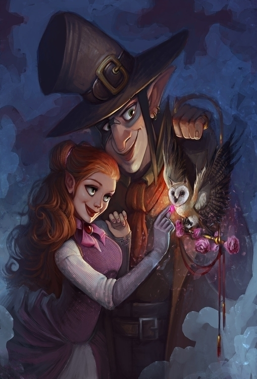 Fairy tale - illustration, painting - aliszombie | ello