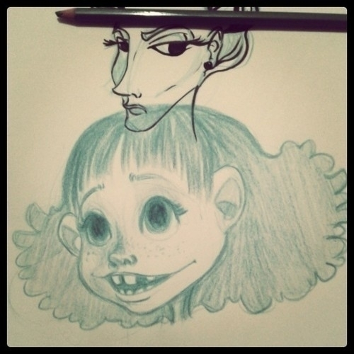 Smile - sketch, girl, smile, cute - leyleyleu | ello