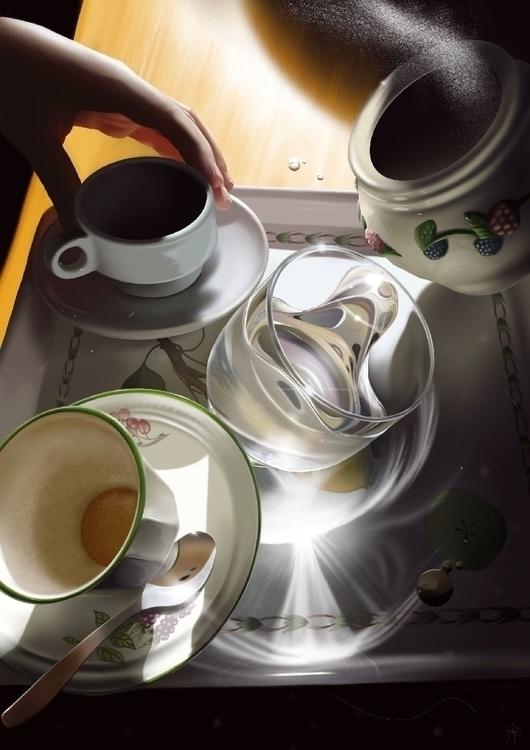 Coffee gravity. iPad finger pai - jaime_sanjuan   ello