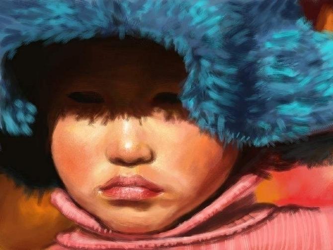 painting, portrait, figure, kid - yanivcahoua | ello