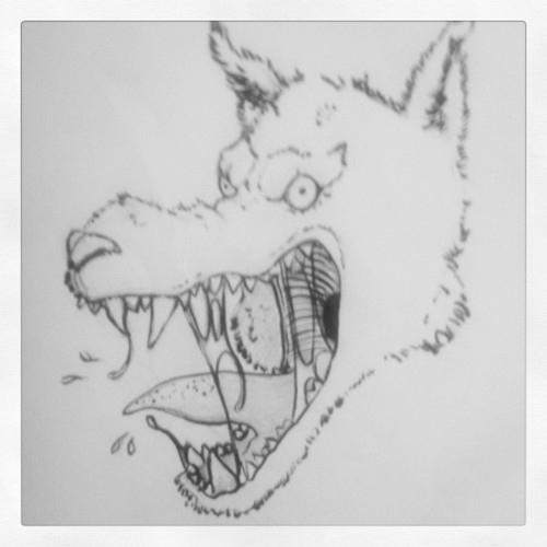 Wolf - wolf, sketch, scary, hungry - leyleyleu | ello