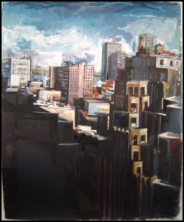 York - newyork, manhattan, cityscape - brionyhowellart | ello