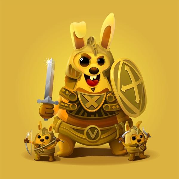 Rabbit - rabbit, warrior, monster - estince | ello