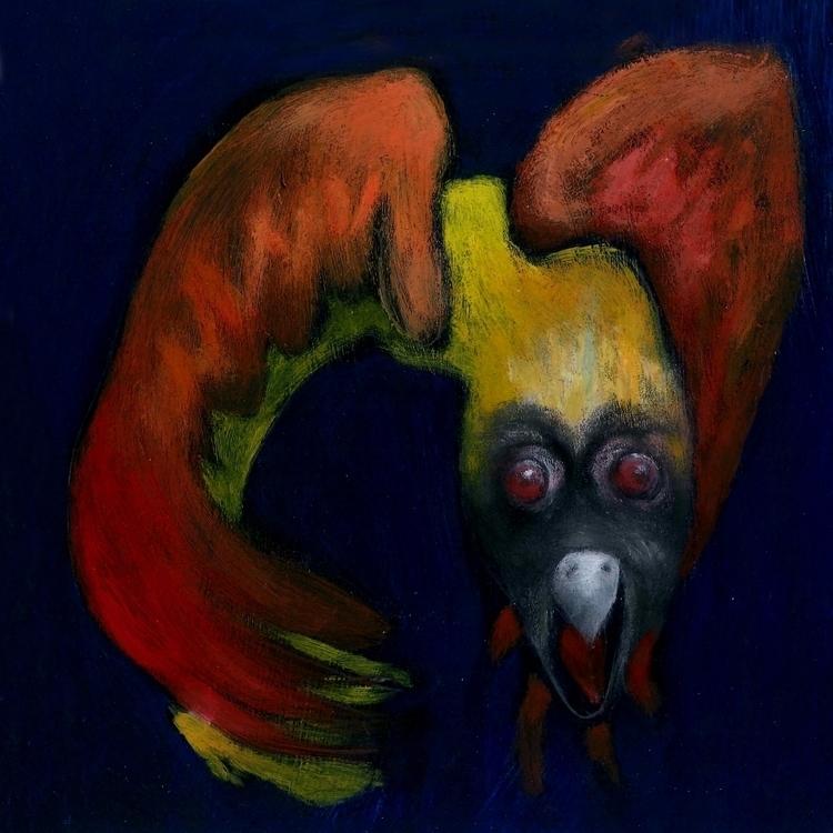 Garuda man , bird . scarlet win - fagfedericaaglietti | ello