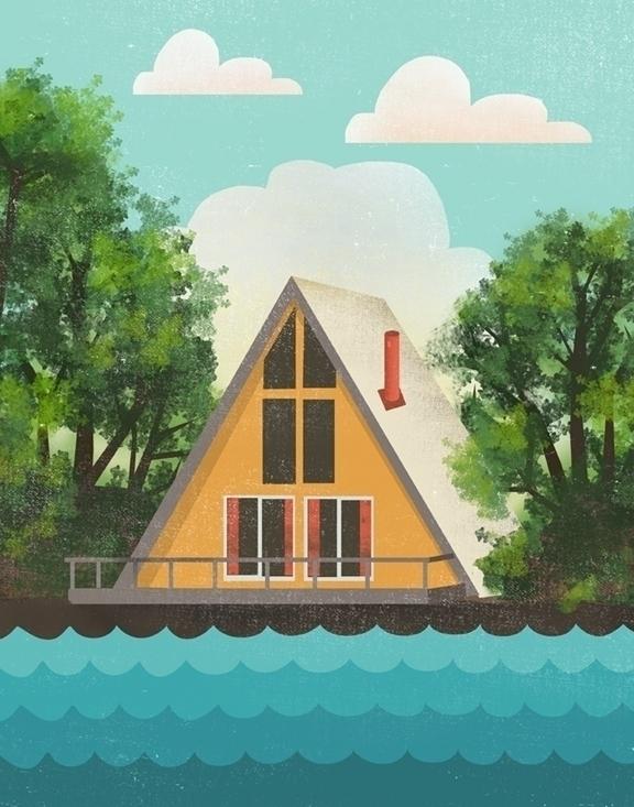cabin - beach, lake, vintage, aframe - jennytiffany | ello