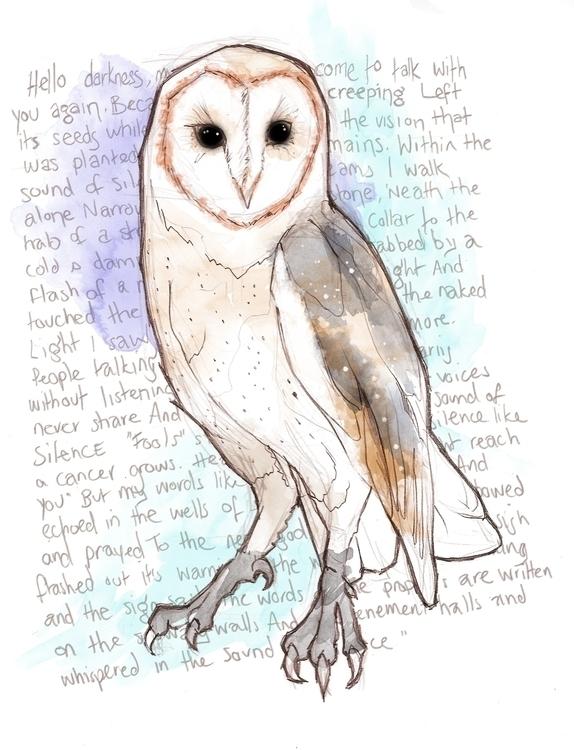 barnowl, owl, soundofsilence - amywiseman | ello