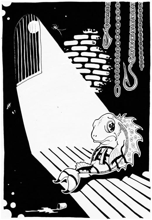 Ocean 2 - illustration, fish, prison - zhenyayanovich   ello
