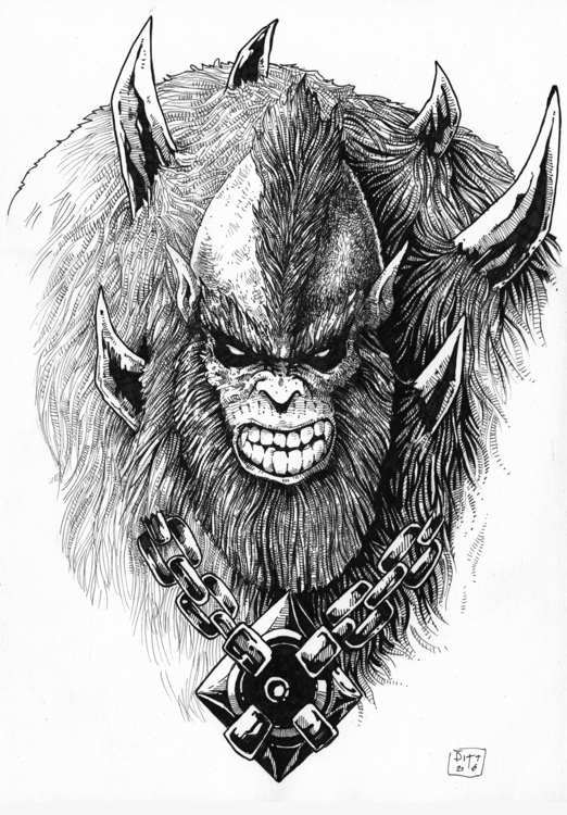 Beast Man - illustration, characterdesign - pittrorotelli   ello